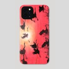 Cranes - 10 - Phone Case by River Han