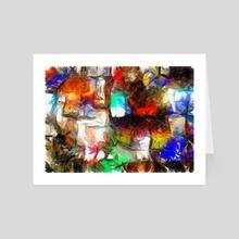 Abstract Squares - Art Card by Bruce Rolff