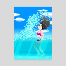 Beach Splash - Canvas by Konayachi