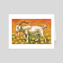 Goat - Art Card by Bazteki