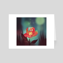 Night rose - Art Card by FoxbergART Foxberg