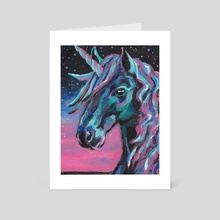 Unicorn - Art Card by Deborah Rose Guterbock