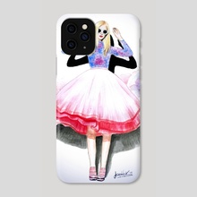 Fashion illustration 2 - Phone Case by Ioanna Kolokotroni