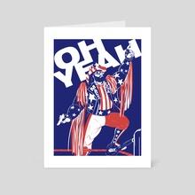 Macho Man - Art Card by Francisco Salinas