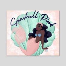 Seashel Pink - Acrylic by Jamila Mehio