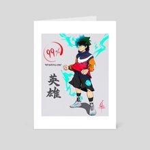 Almost Full Cowl Deku - Art Card by OZEE