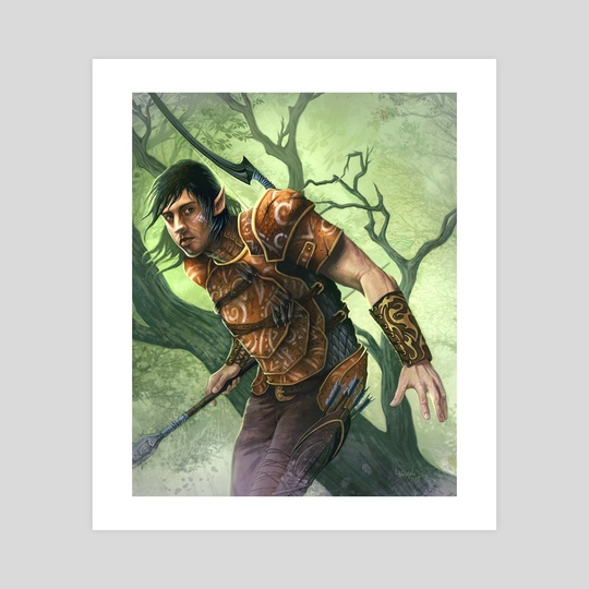 Elvish War Scout by Chris Casciano