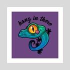 Hang In There Colorful Gecko - Art Print by John Schwegel