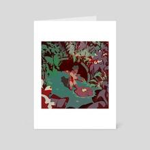 Swamp Trek - Art Card by Michel Saito