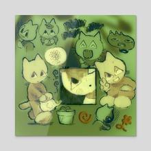 RPG cat 0.1 - Acrylic by Plastiboo