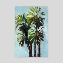 Barcelona Palm Trees - Canvas by Jessica Whitten