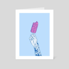 Brain ice cream! mmmmm  - Art Card by Evgenia Chuvardina