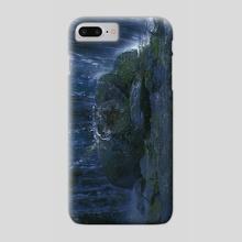 Tranquillity - Waterfall - Phone Case by Ngandu Tshimanga