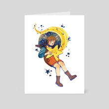 Catching a star - Art Card by Justine  Joson