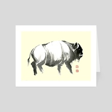 Bison - 2 - Art Card by River Han