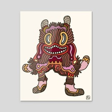 Olmeca Monster of the day (June 2) [Year 1] - Acrylic by Royal Glamsters