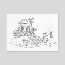 Mouse House - Acrylic by lunaagem