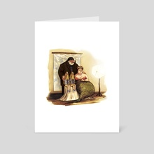 Family Portrait - Art Card by Jessica Warrick