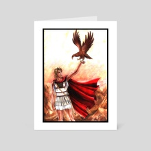 Alexander The Great With Eagle Fanart  - Art Card by Aurora Borealis