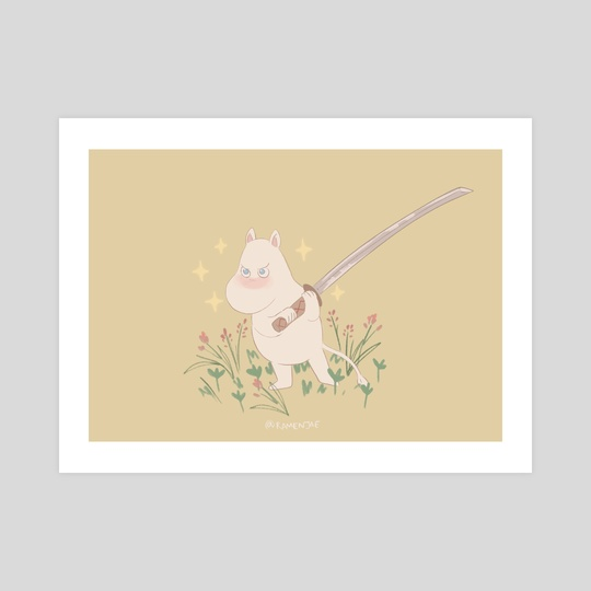 Moomin with a Sword by Grace Kim