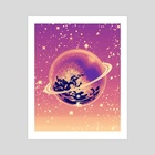 Space Orb - Art Print by Mel McKenzie