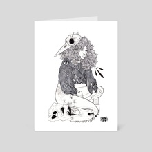 Leave Me Alone - Art Card by Stef Azevedo