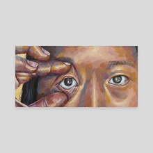 fox eyes - Canvas by Jackie Liu
