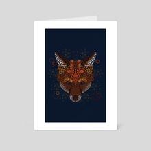 Fox Face - Art Card by Q Artwork