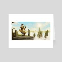 Flute Aang - Art Card by Roos Plattje