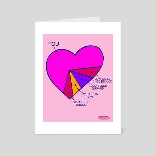 Heart Chart Valentine's Card by Miss Diabetes