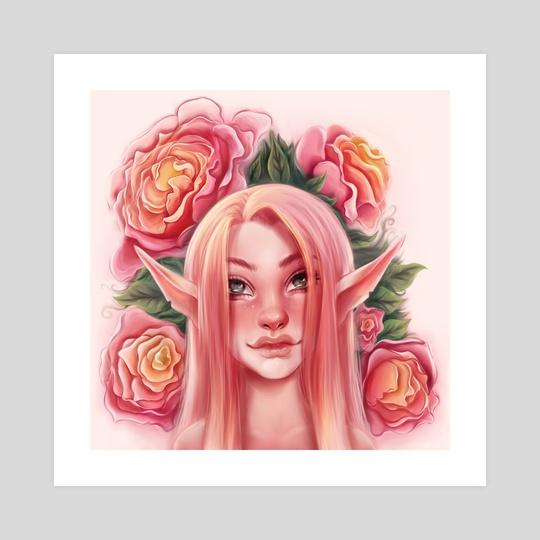 Flower Girl // Pink Elf by Kathryn's Kanvas