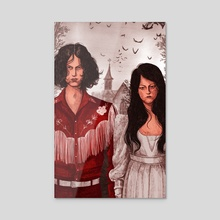 The White Stripes - Acrylic by Martha Walker