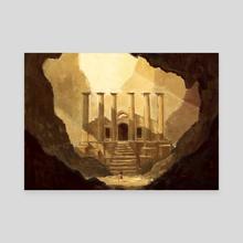 Ancient Ruins - Canvas by Indré Bankauskaité