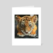 Tiger cub - Art Card by Liliana Corradini