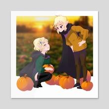 Pumpkin Patch - Acrylic by Jenny  Gallagher