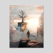 Dead Tree - Acrylic by Anttoni Salminen