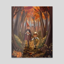 Over the Garden Wall - Acrylic by Kay Fine
