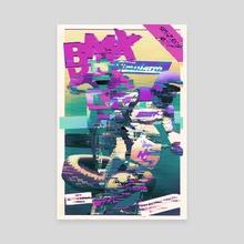 BMX Simulator - Canvas by Retro Glitch