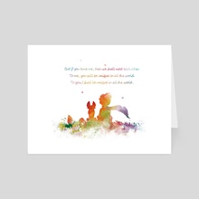 Little Prince Fox - Art Card by Monn Print