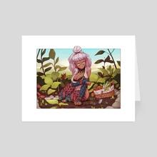 Leiana Gardening - Art Card by Tyto Alba
