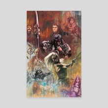 Conan the Barbarian poster study - Canvas by Sam Watson
