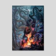 Darkyoung Attacks! - Acrylic by john sumrow