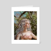 Ste-Anne Mermaid in the Cherry Woods - Art Card by Ste-Anne Mermaid