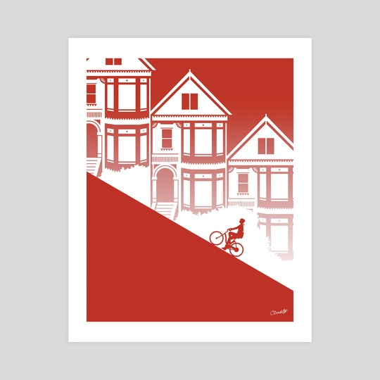 Biking in San Francisco: Painted Ladies by Chris Cerrato