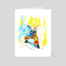 Going SSJ- Goten Kamehameha - Art Card by MARK CLARK II