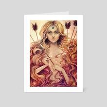 Zodiac Sagittarius - Art Card by Sylvia  Strijk