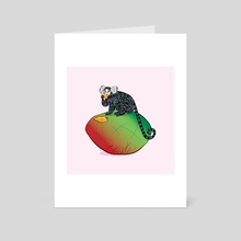 The Marmoset and The Mango - Art Card by Oliver Lake