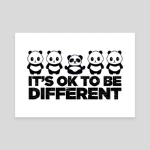 It's Ok To Be Different - Canvas by Visuals Artwork