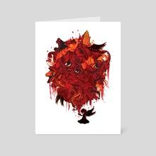 beast pray - Art Card by dennis ridiculousarts