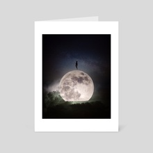 The search for the moon - Art Card by Daku
